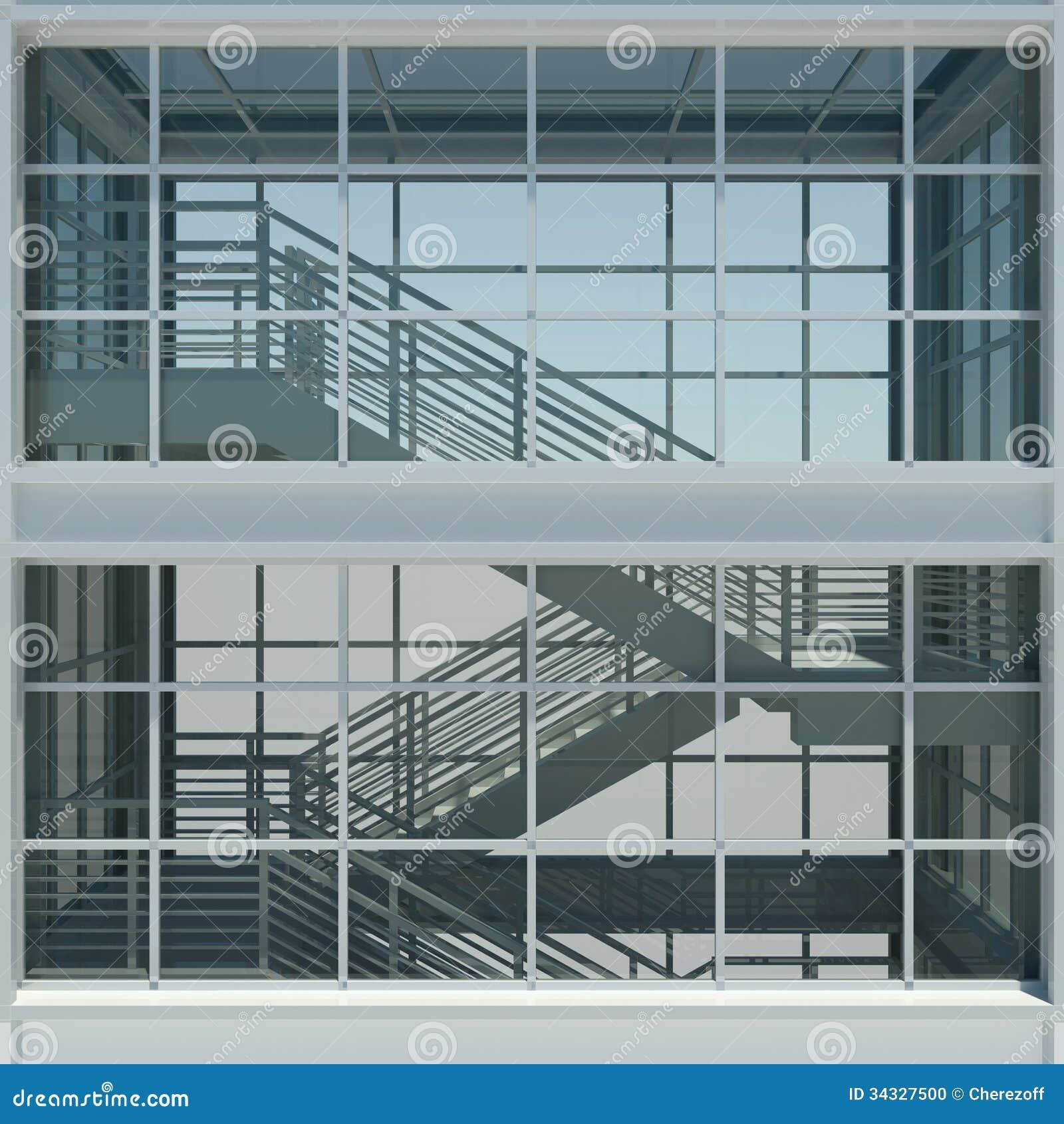 Architektur treppenhaus und fenster stock abbildung for Fenster treppenhaus