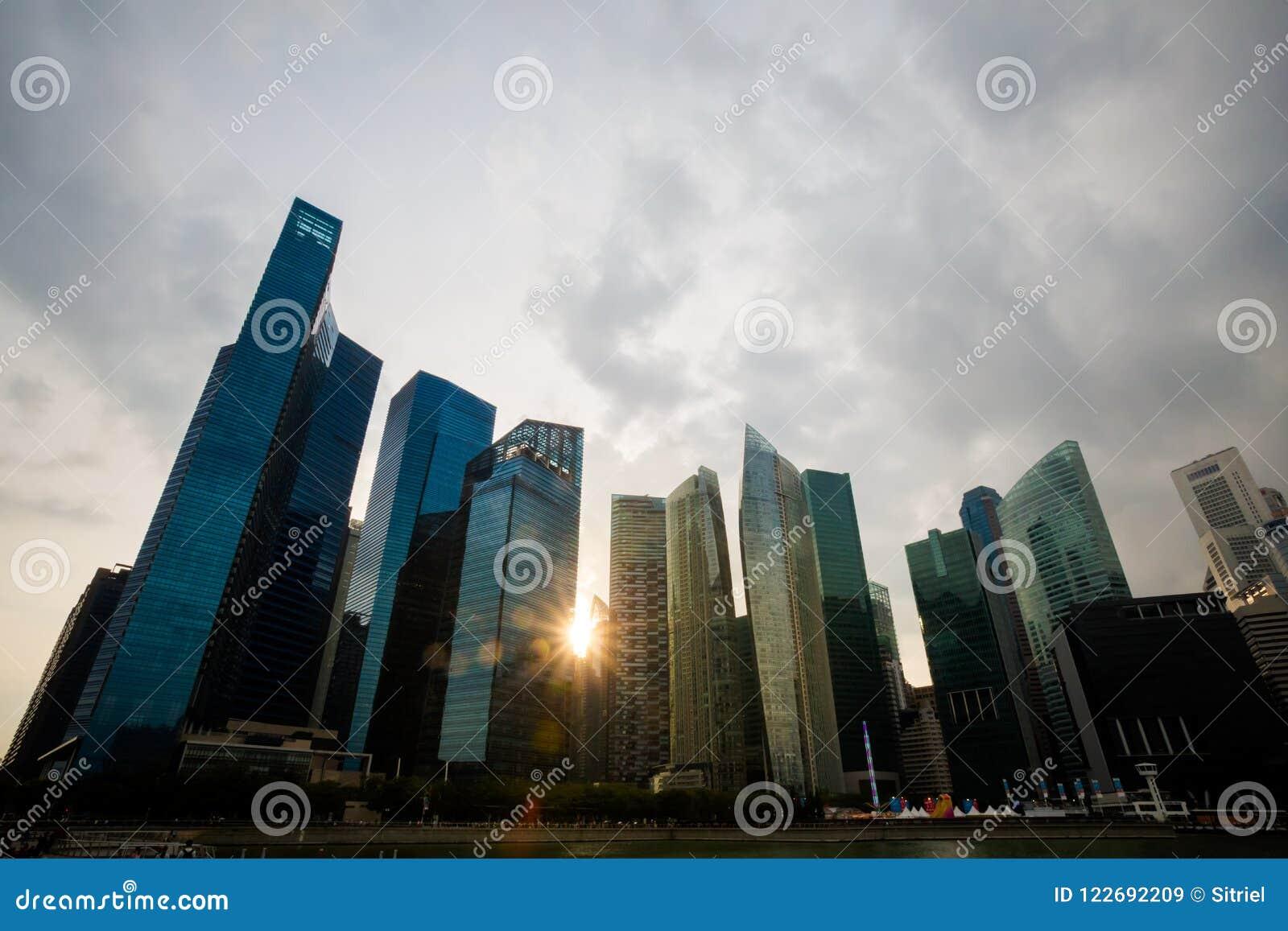 Architektur um Marina Bay Singapore