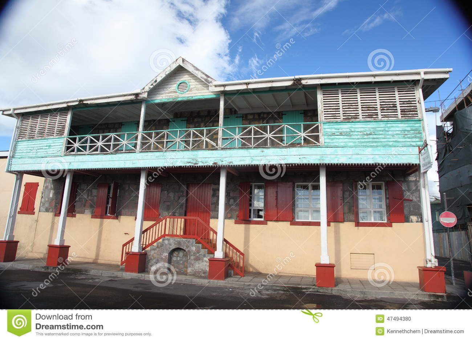 Architektura budynki w Dominica, wyspy karaibskie