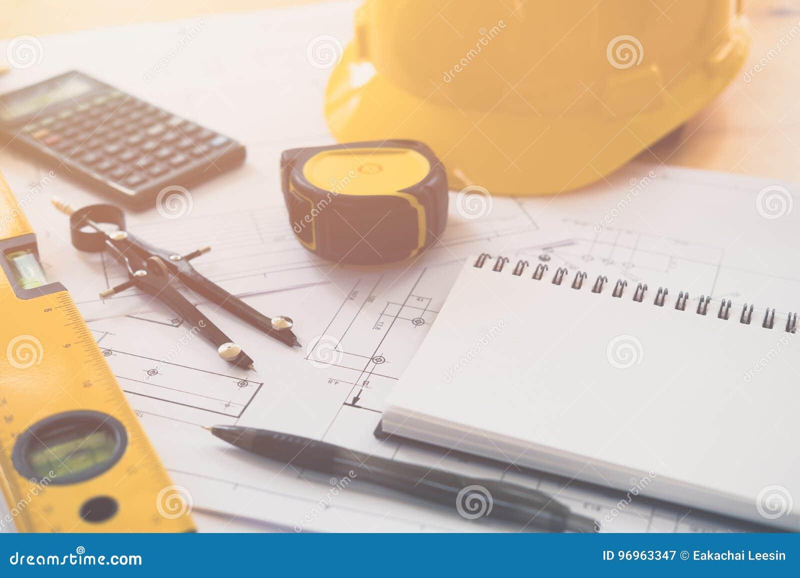 Architektura, konstruujący plany i rysunkowego wyposażenie