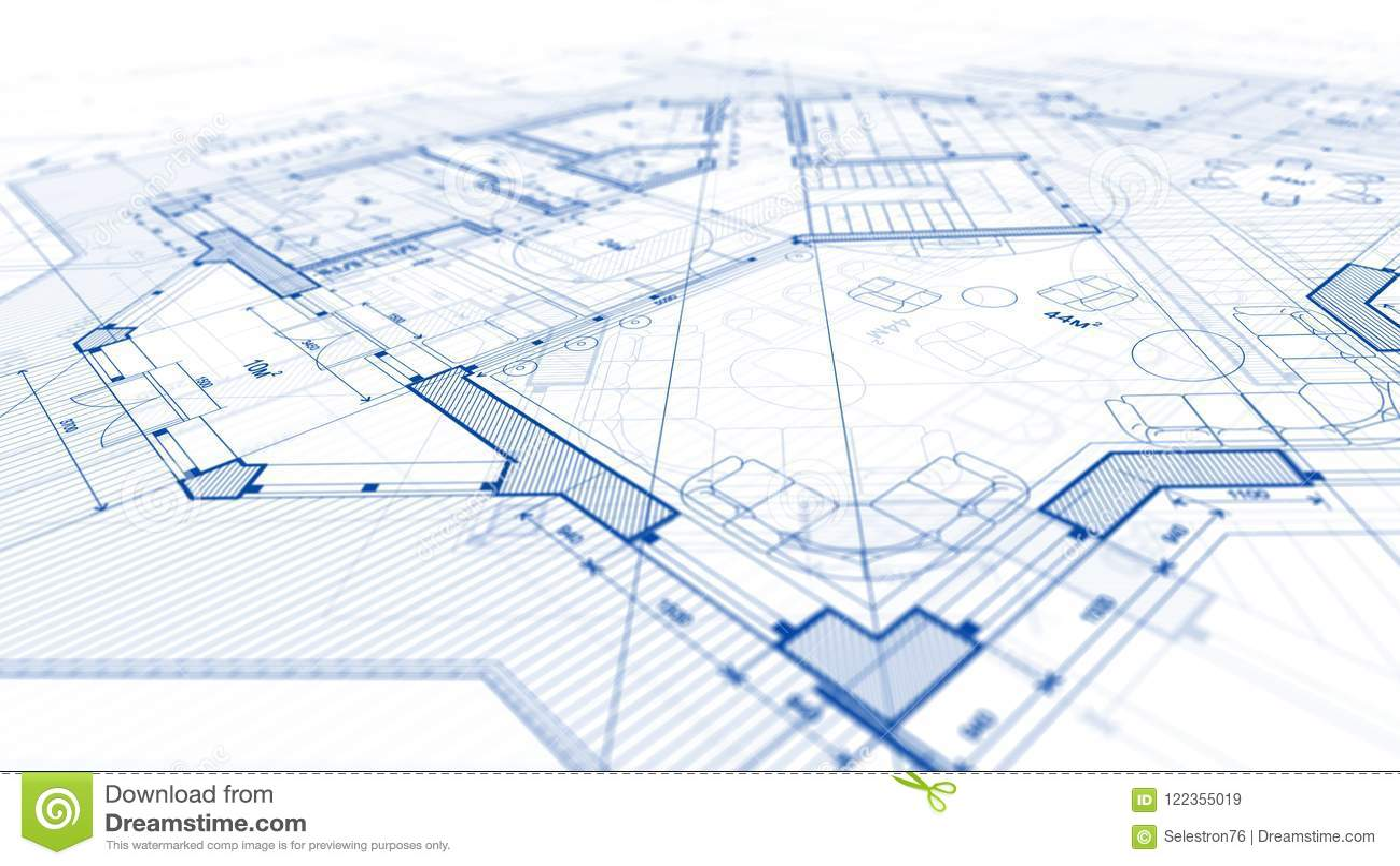 Architekturdesign: Planplan - Illustration eines Planumb.