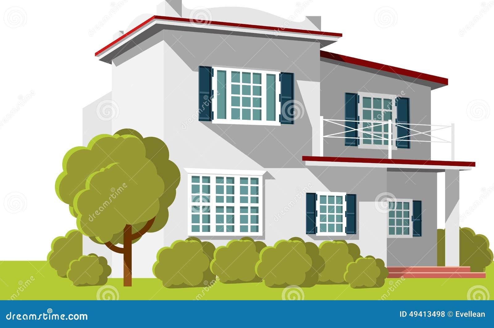 Download Architekturhintergrund Mit Familienhaus Vektor Abbildung - Illustration von zeichnung, lichtpause: 49413498