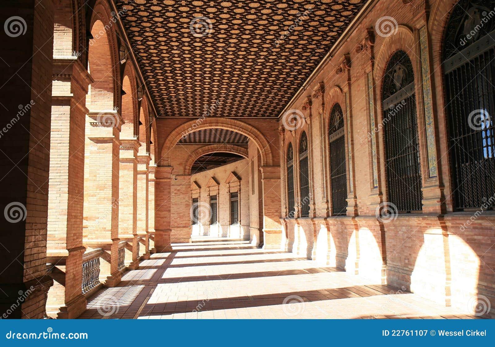 Architektury De Espana placu Seville spanish