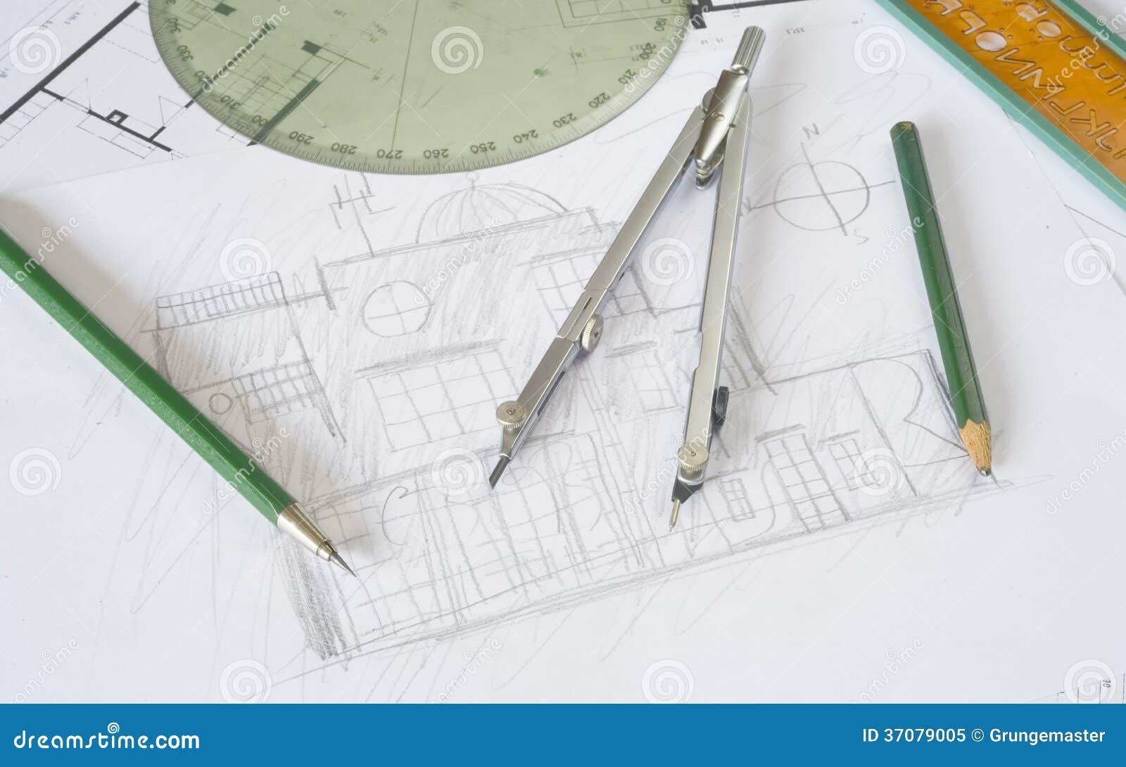 Download Architektury nakreślenie obraz stock. Obraz złożonej z budynek - 37079005