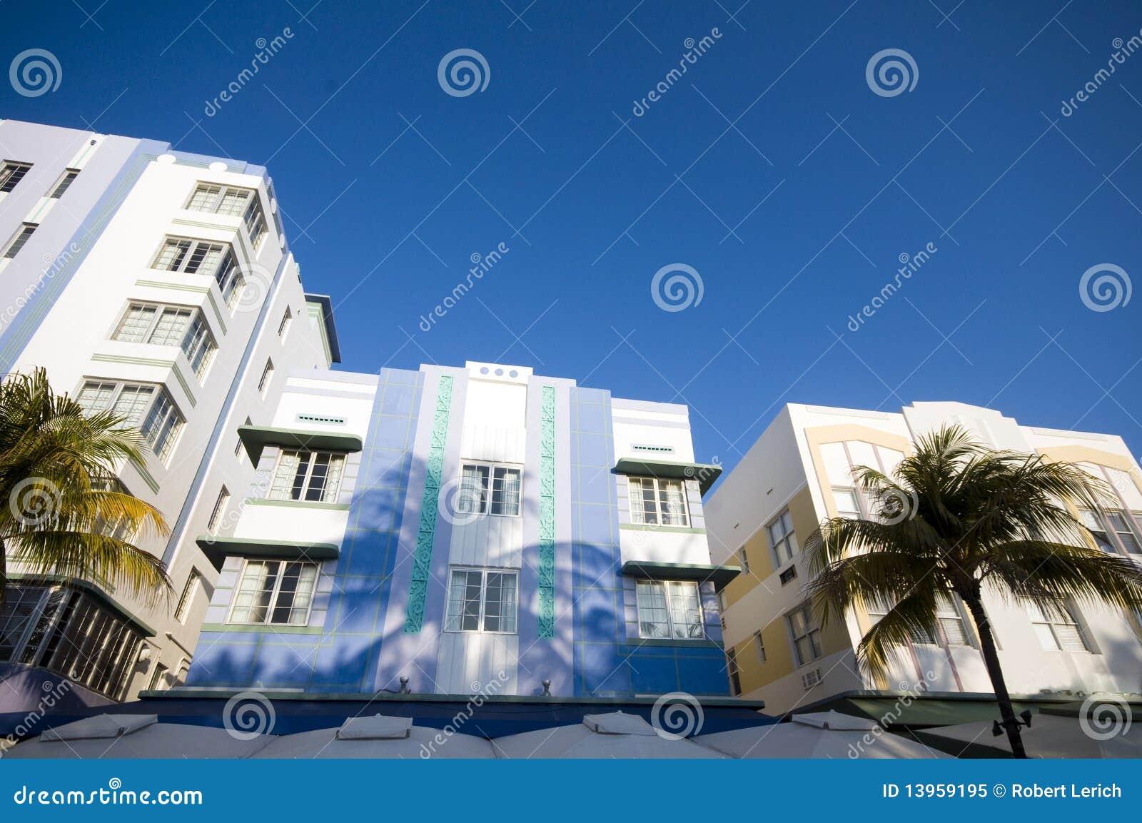 Architektury sztuki plaży deco Miami południe