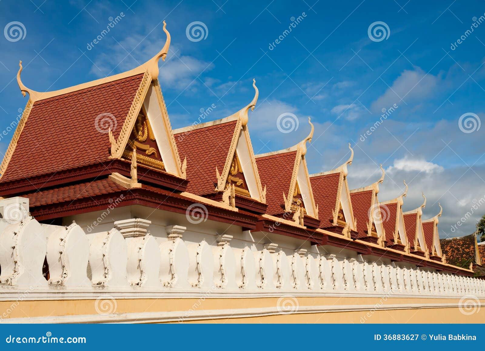 Download Architettura Asiatica Tipica Immagine Stock - Immagine di asia, khmer: 36883627