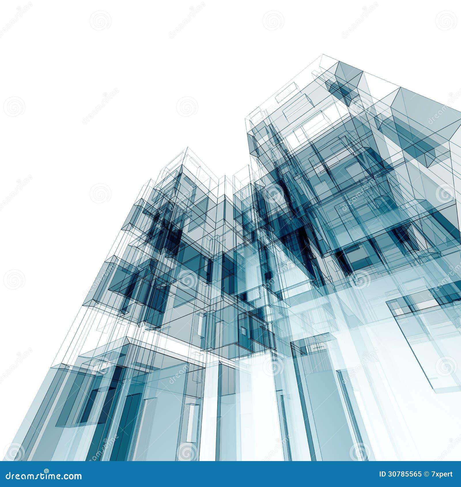 Architettura astratta illustrazione di stock for Programmi 3d architettura