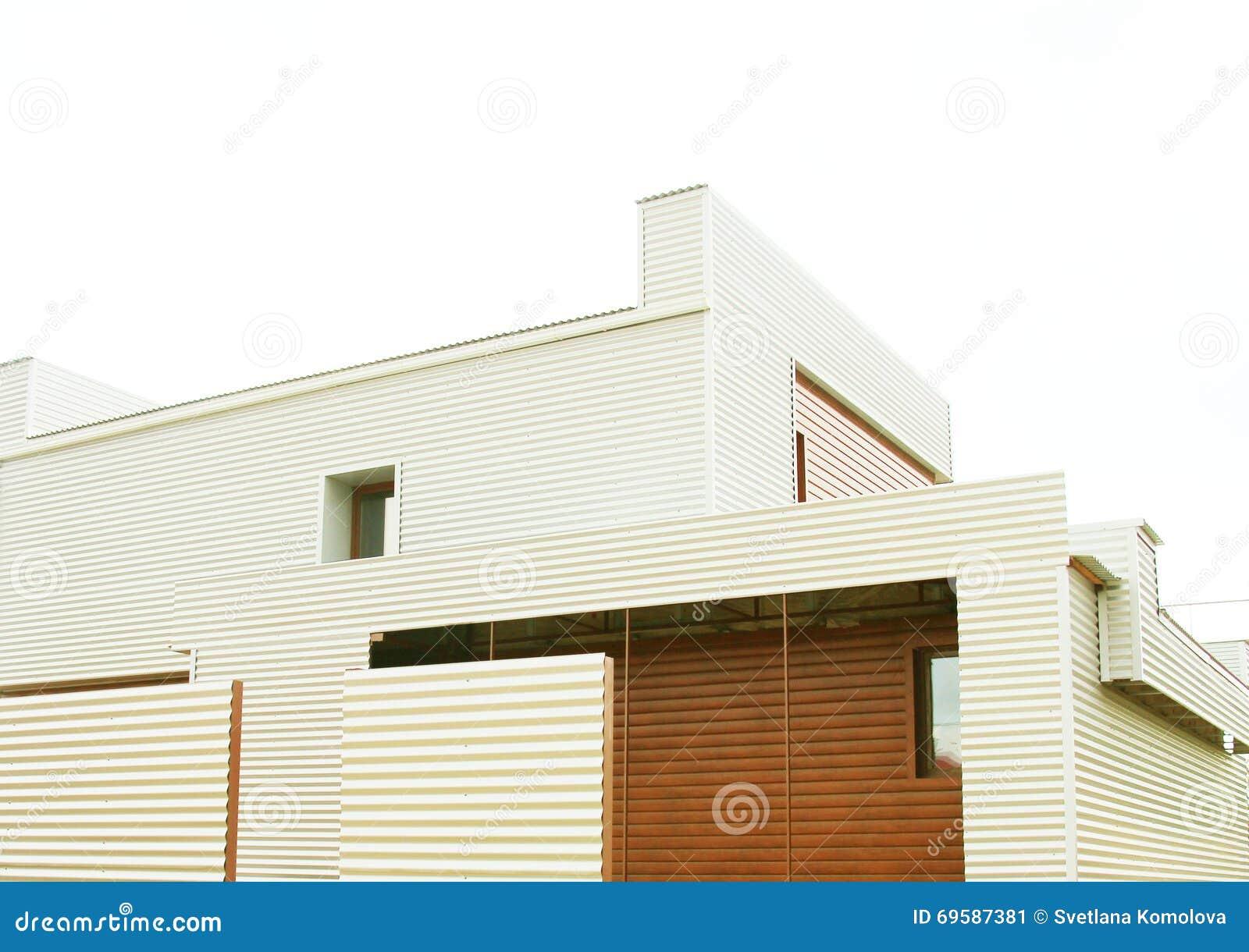 architettura casa moderna privata immagine stock