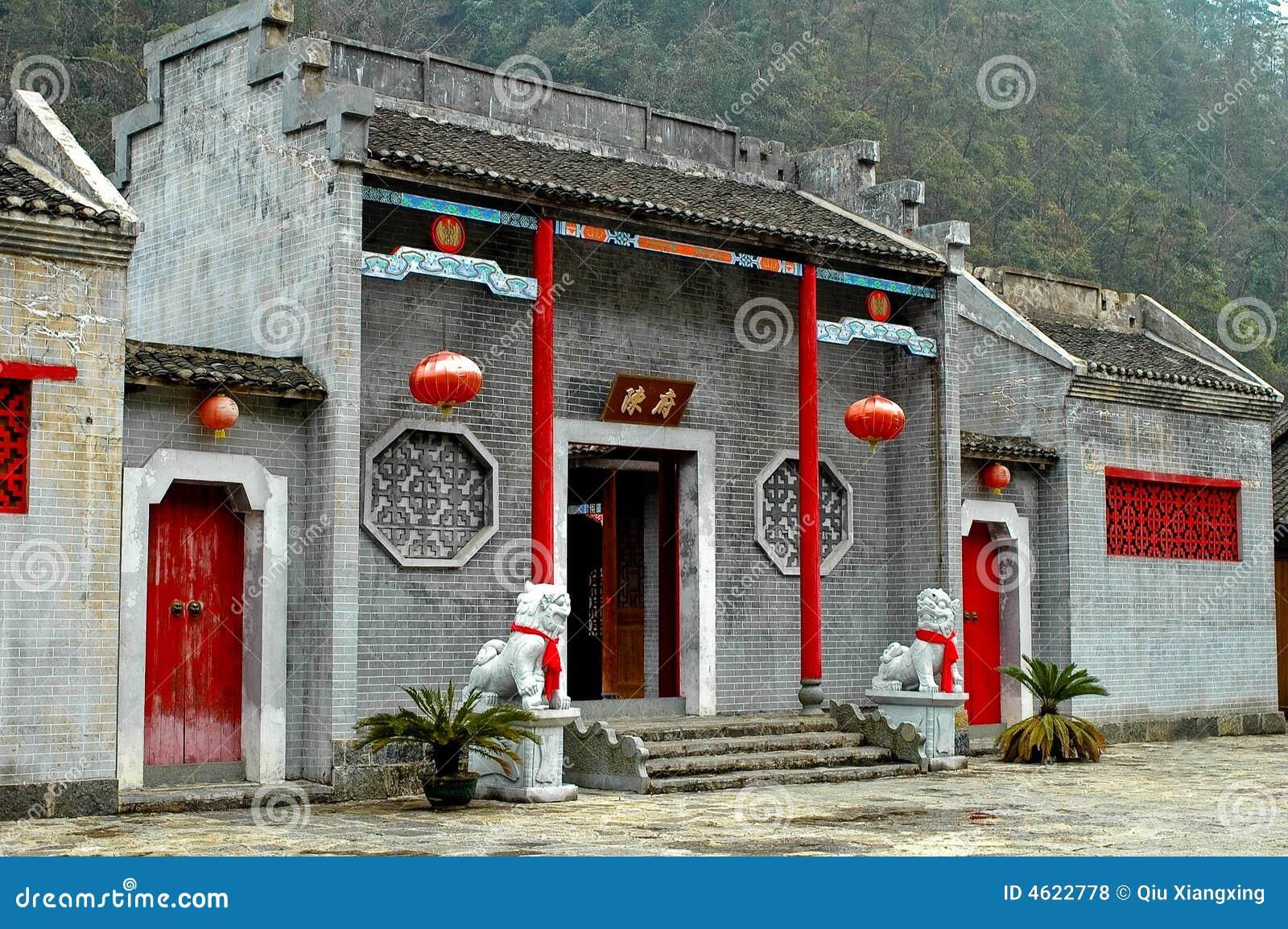 Architettura cinese antica fotografie stock libere da for Casa tradizionale cinese