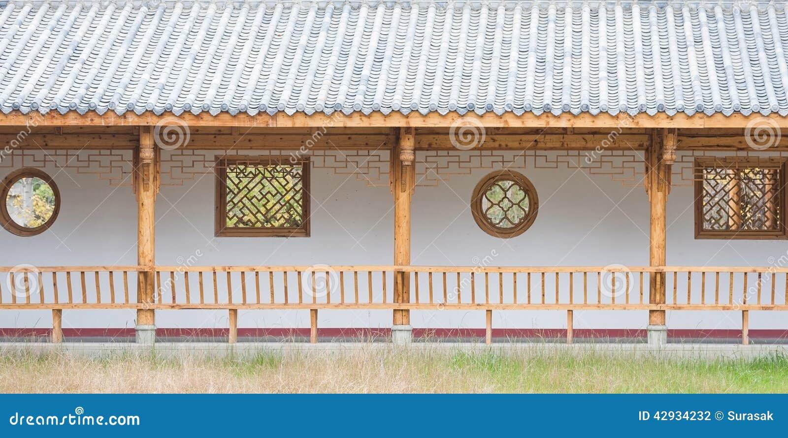 Architettura cinese di legno fotografia stock immagine for Architettura tradizionale giapponese