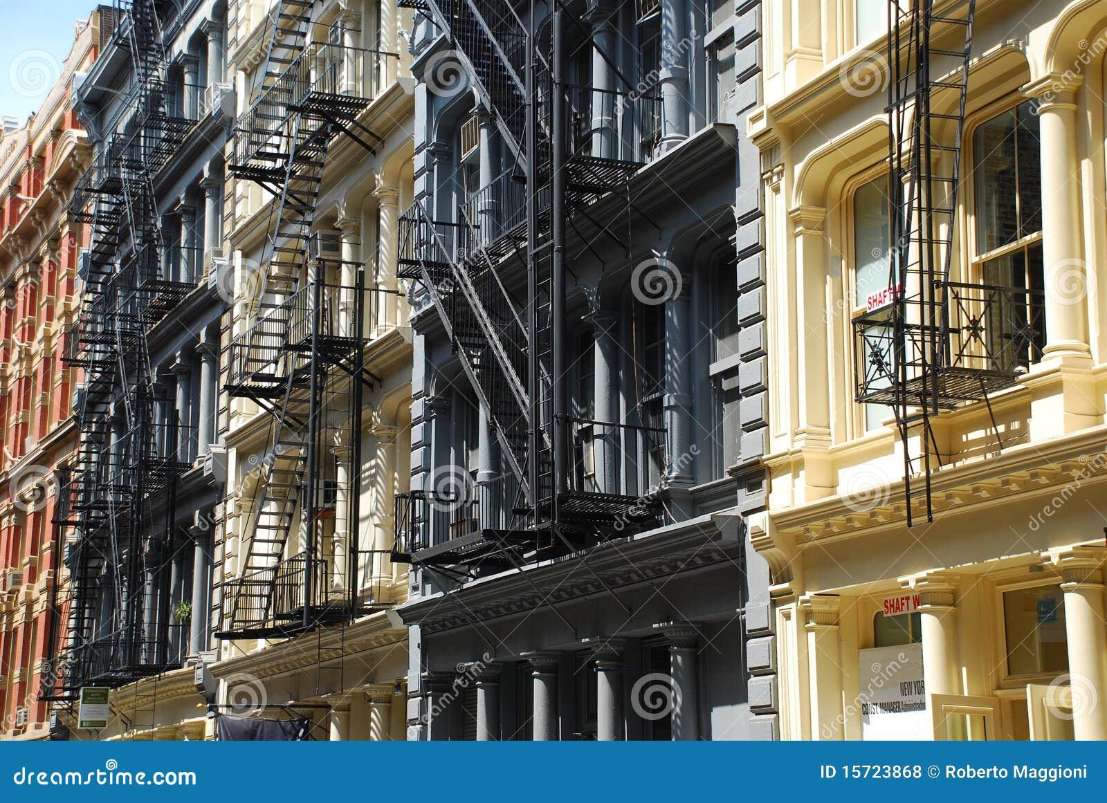 Architettura del ghisa di soho new york fotografie stock for New york architettura contemporanea