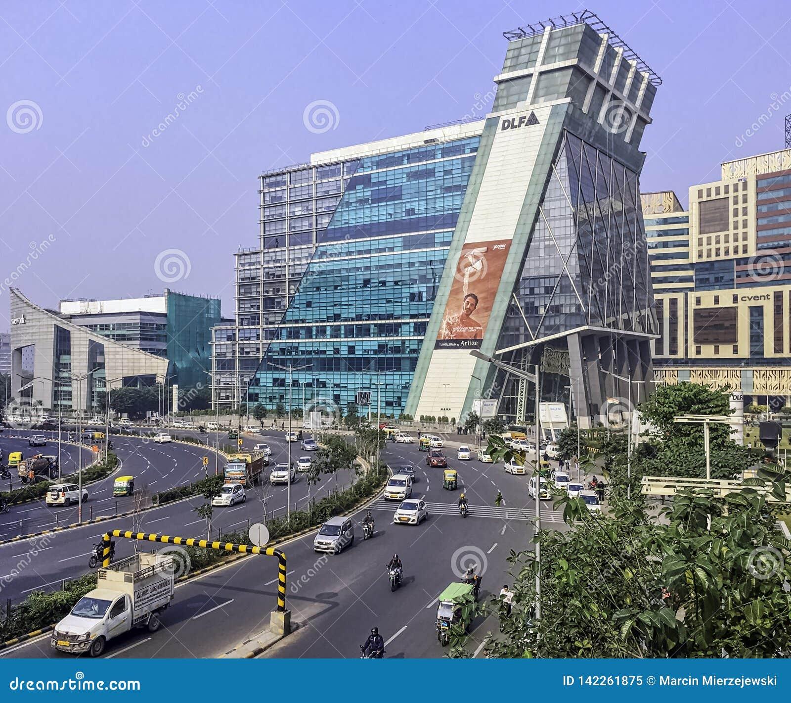 Architettura della città cyber/Cyberhub in Gurgaon, Nuova Delhi, India