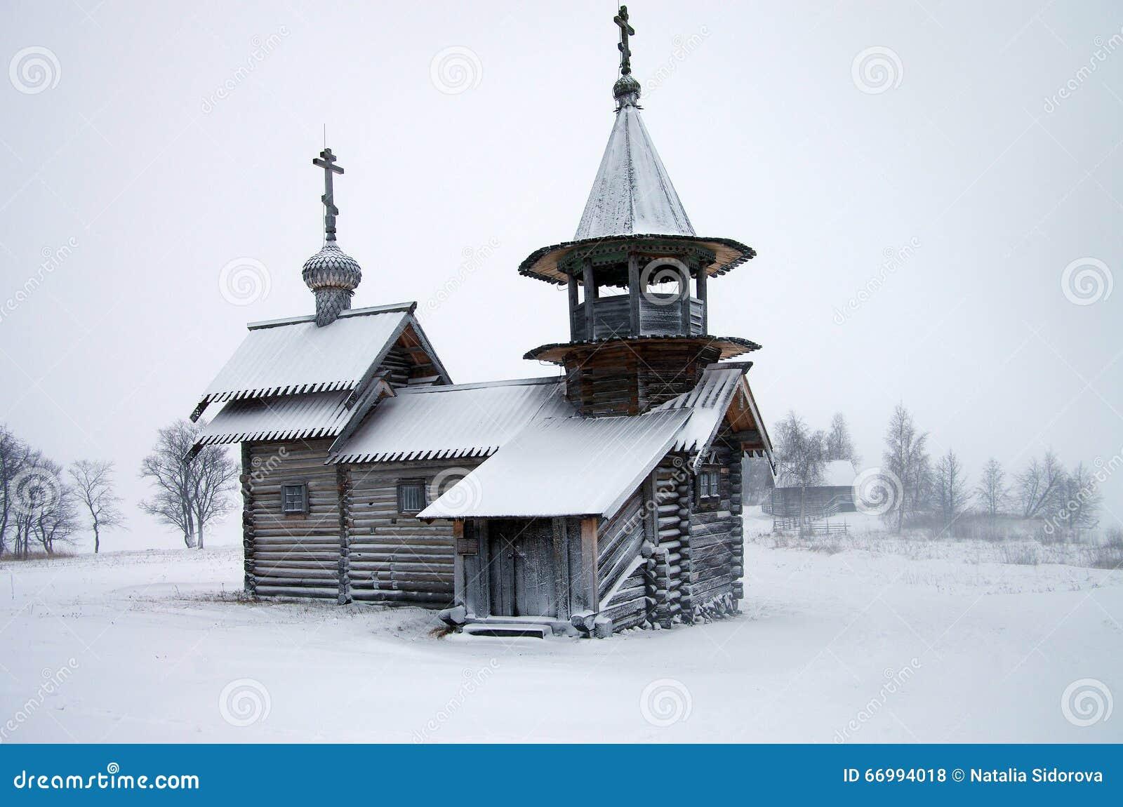 Architettura di legno russa del nord - museo all aperto Kizhi, Carelia