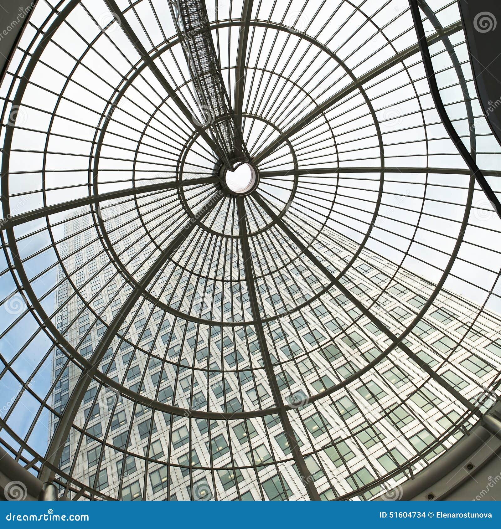 Architettura di vetro moderna di canary wharf immagine for Architettura moderna londra