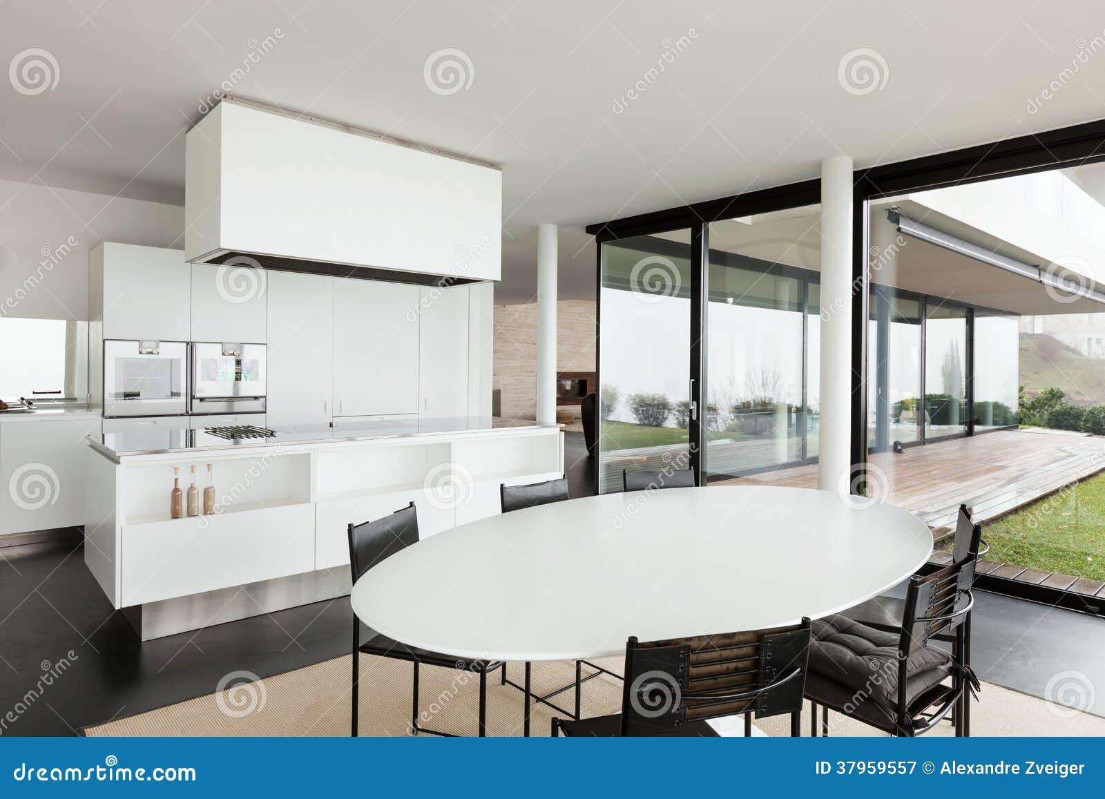 Architettura interno di una villa moderna immagine stock for Villa moderna