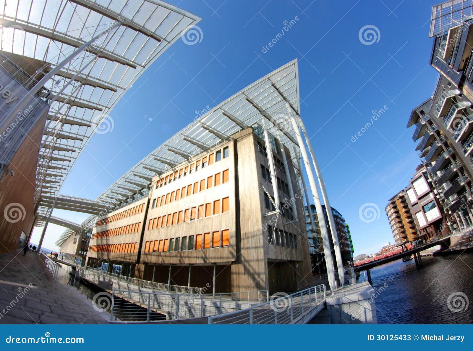 Architettura moderna a oslo norvegia fotografia stock for L architettura moderna