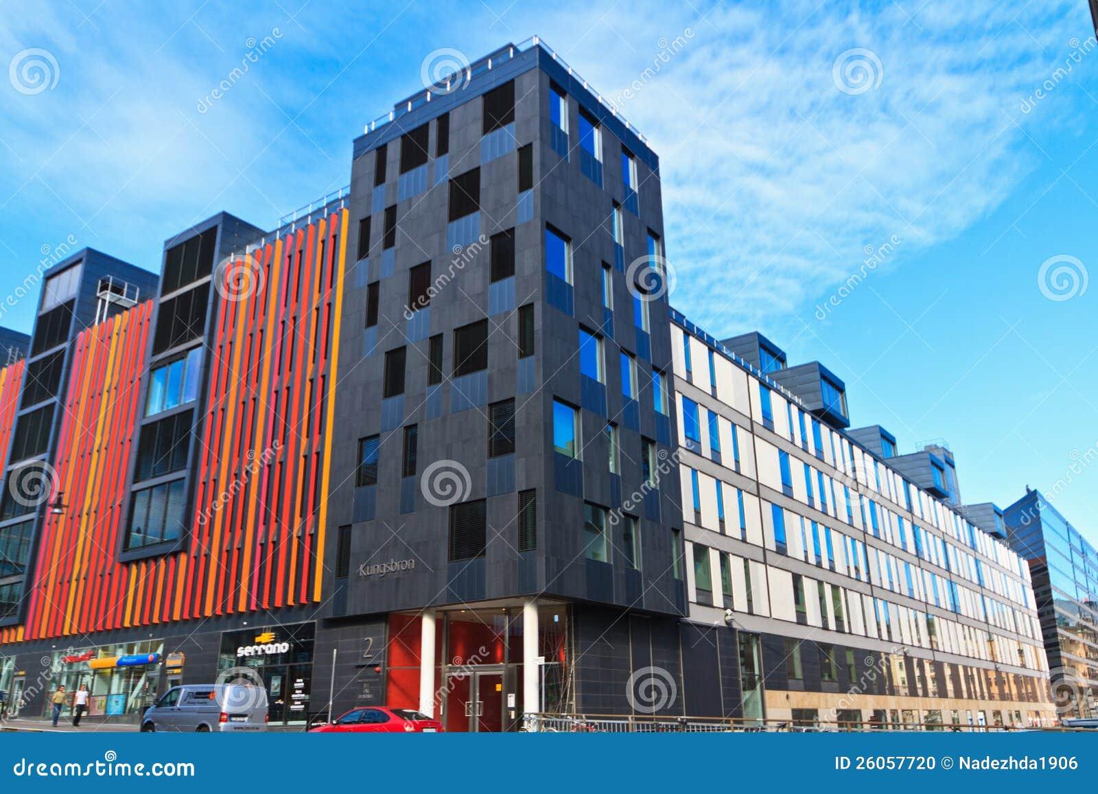architettura moderna stoccolma immagine editoriale
