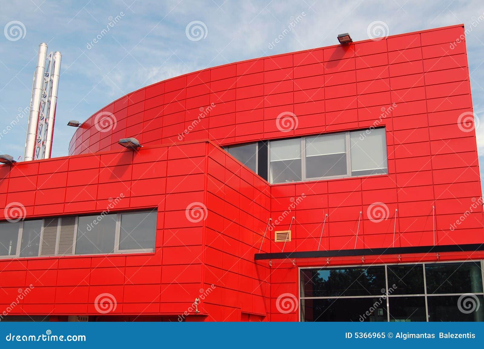 Architettura rossa moderna