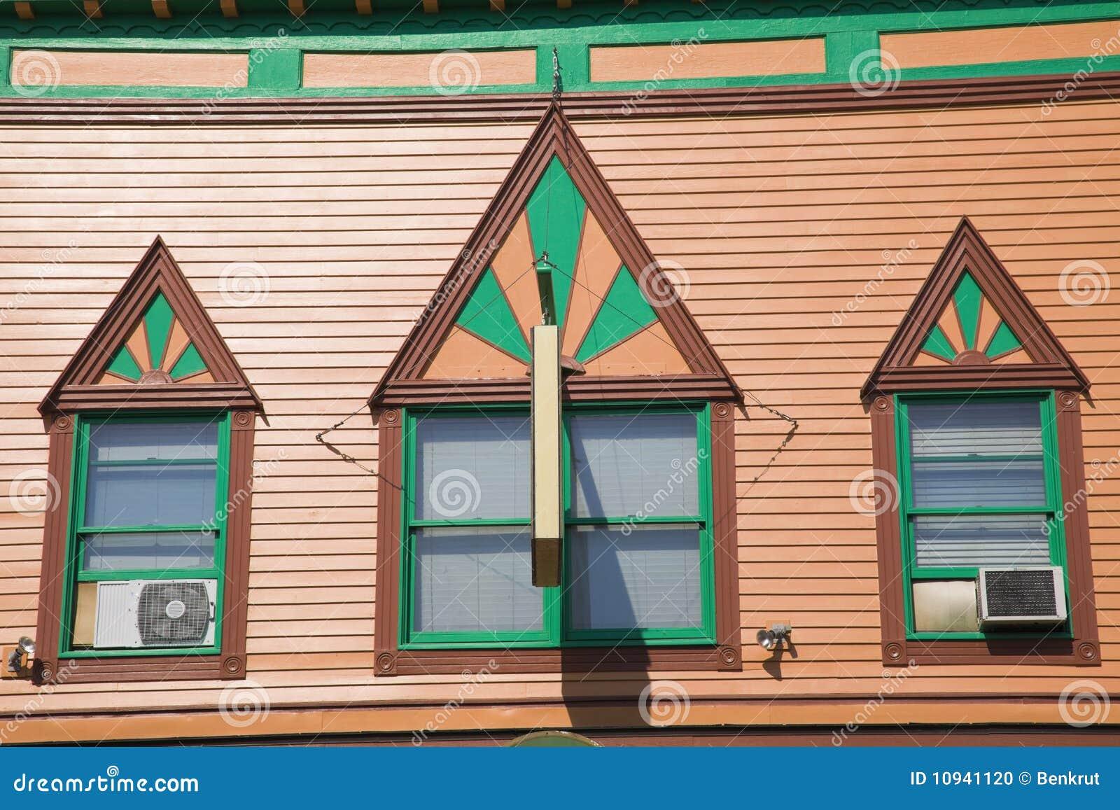Architettura variopinta dell isola di Mackinac