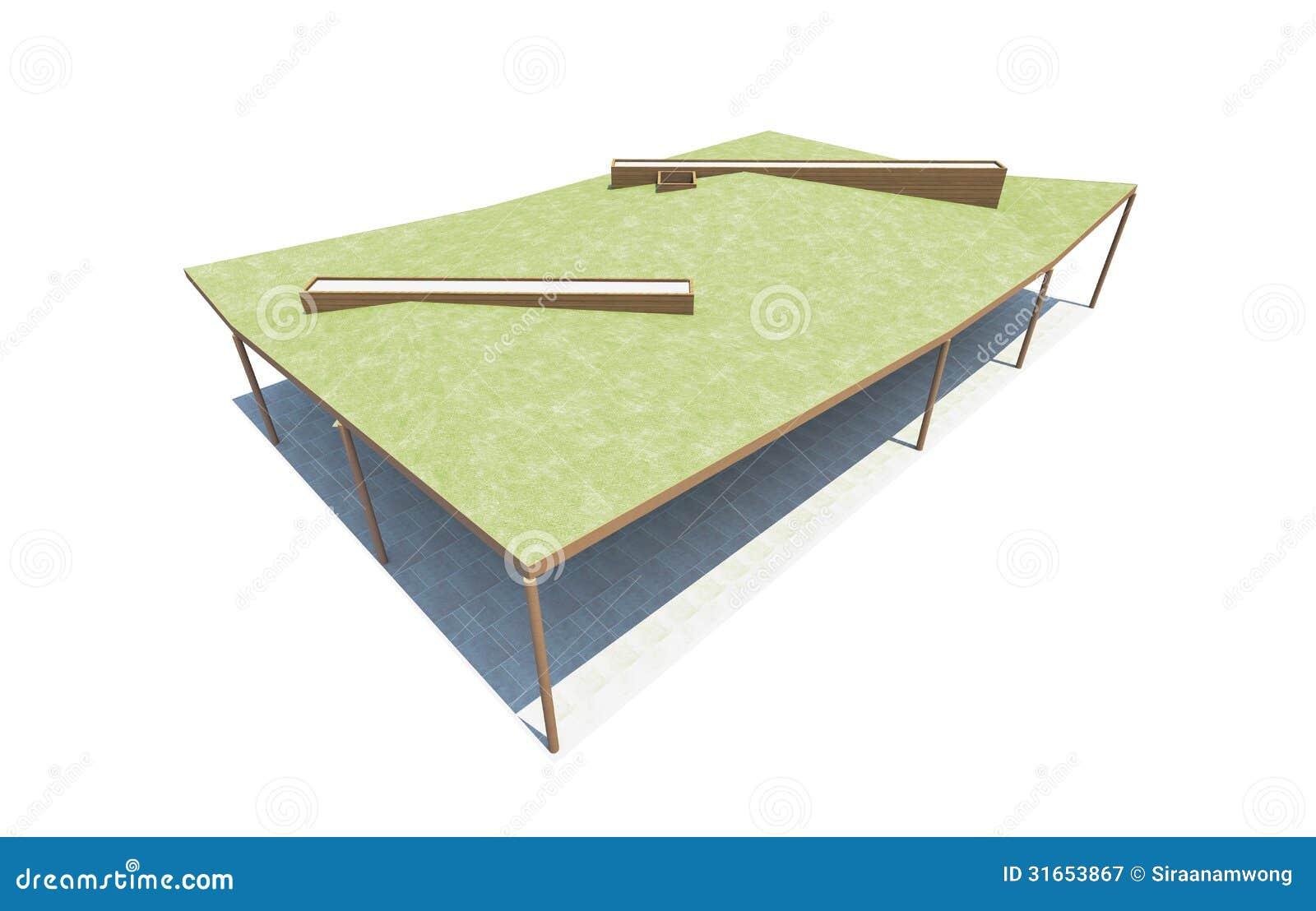 Architettura verde del tetto su fondo bianco illustrazione for Architettura verde