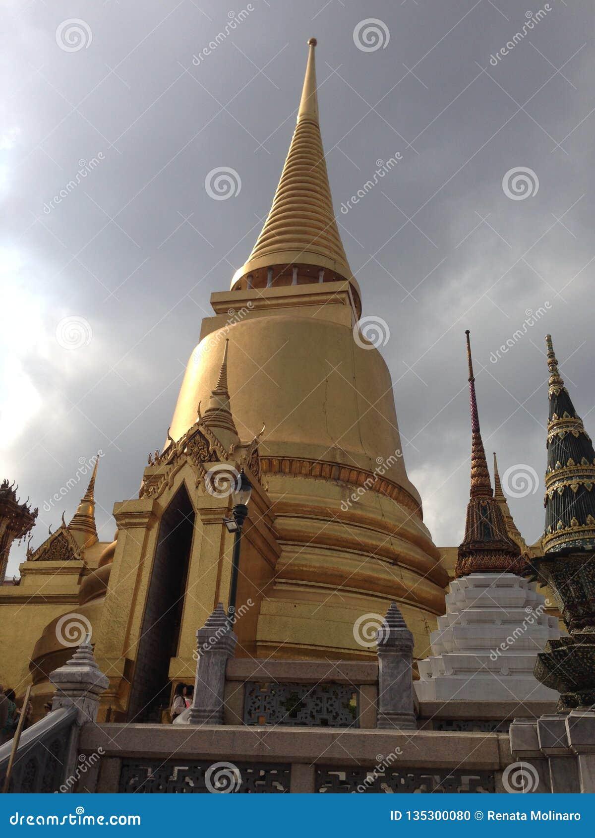 Architeture细节在曼谷玉佛寺的