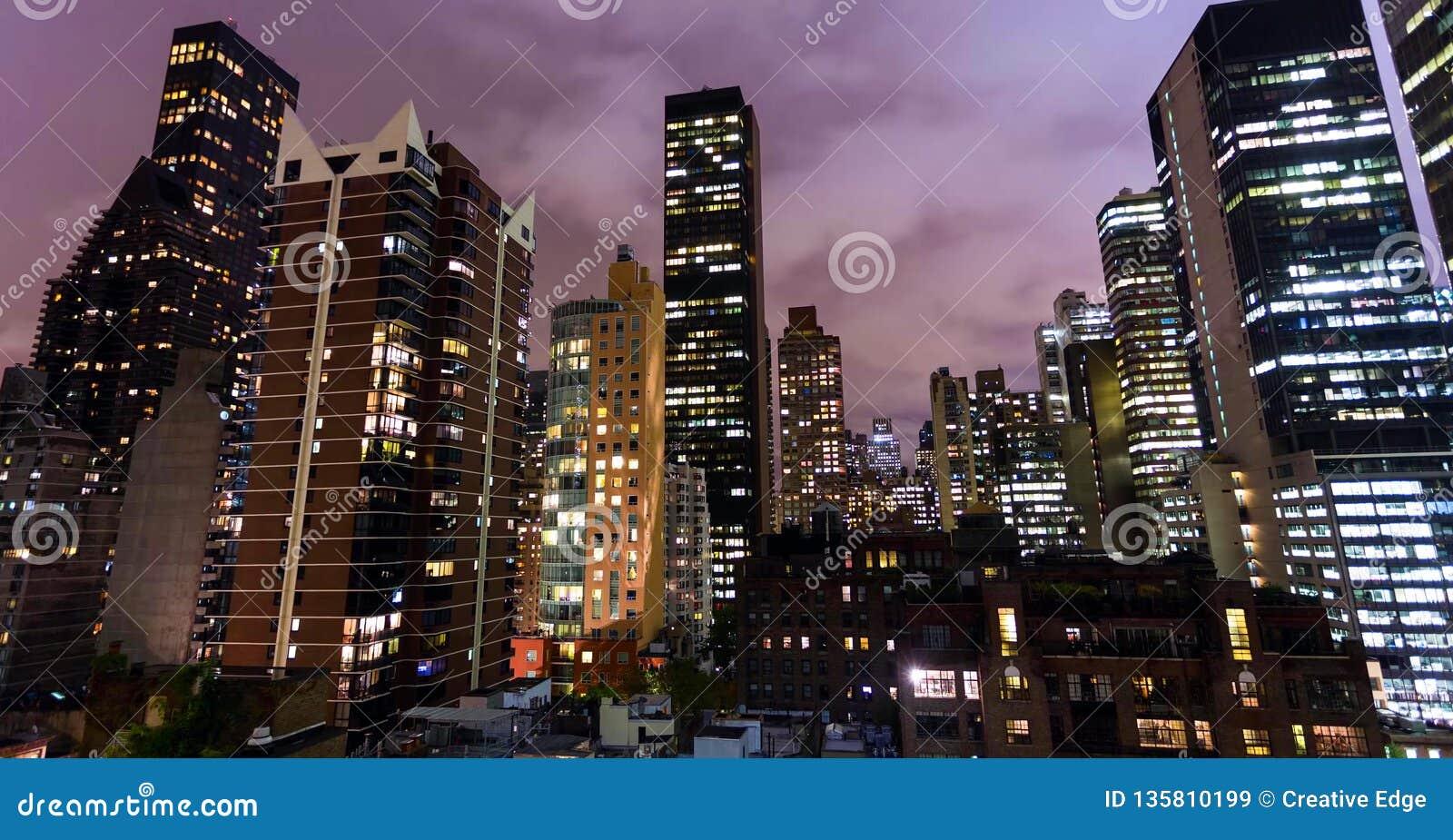 Archivbild der Skyline von New York, USA