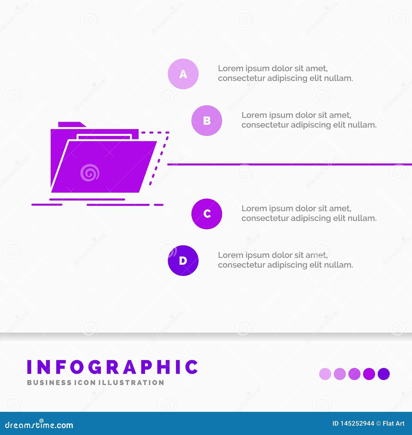 Archives, catalogue, annuaire, dossiers, calibre d Infographics de dossier pour le site Web et pr?sentation Style infographic d i