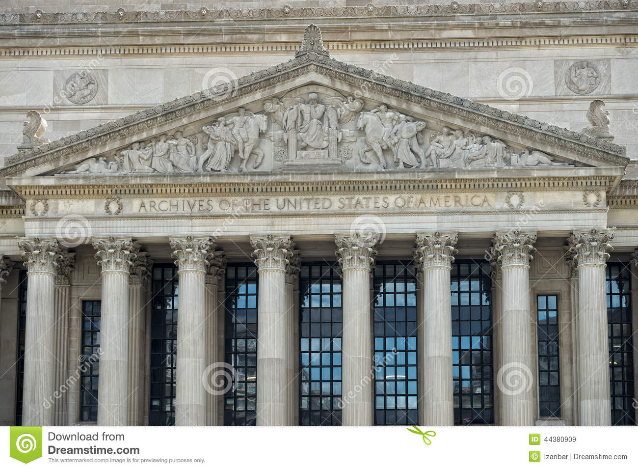 Archives Of The United States Of America Stock Image