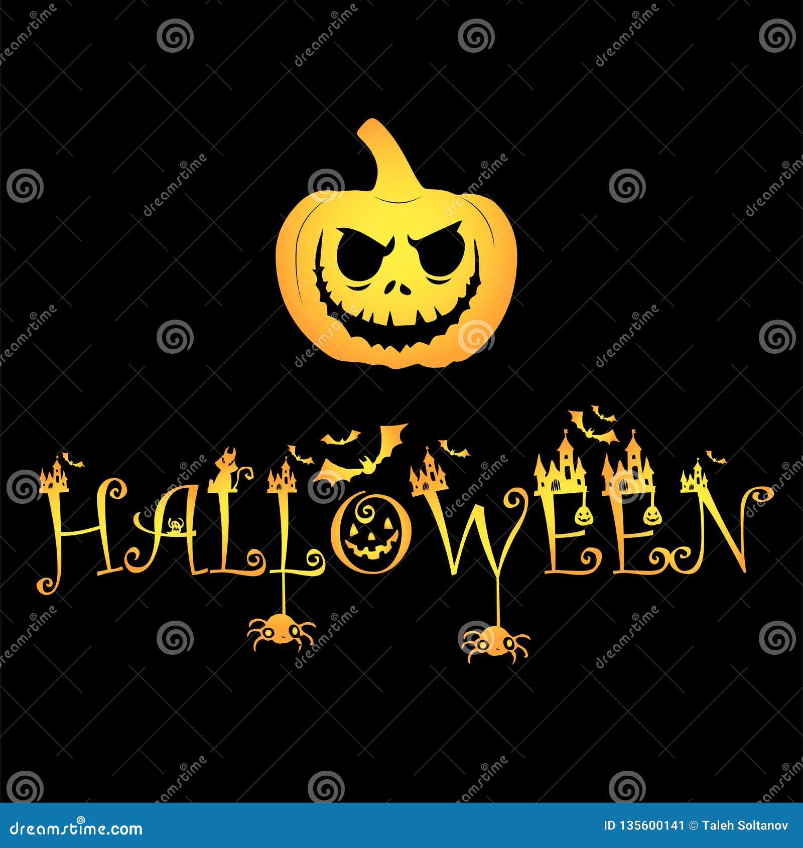 Archivio di logo della zucca di Halloween della zucca