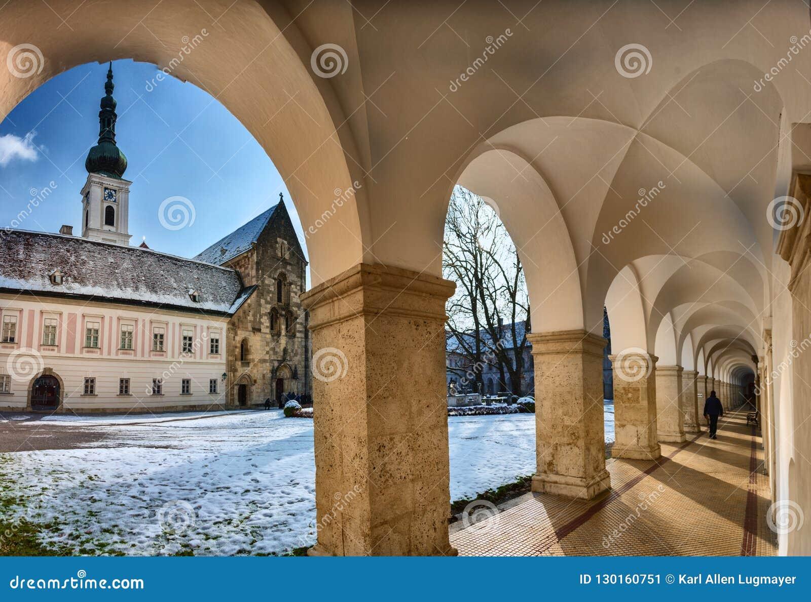 Archway and Inner Yard of the monastery of Heiligenkreuz