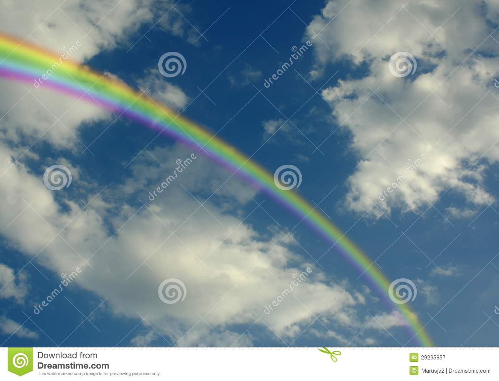 Download Arco-íris imagem de stock. Imagem de nave, outdoor, cloudy - 29235857