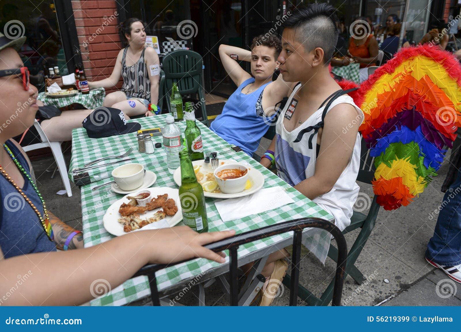 Arco-íris Angel Wings Diner Greenwich Village NYC