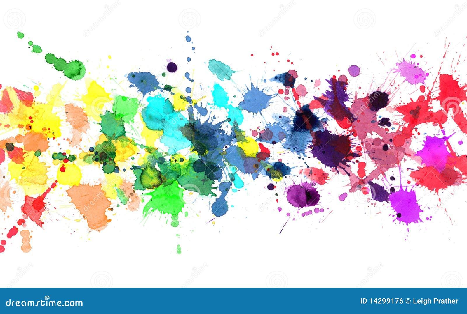Arco-íris da pintura da aguarela