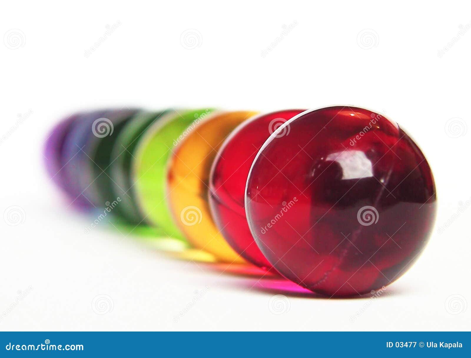 Arco-íris das esferas do banho
