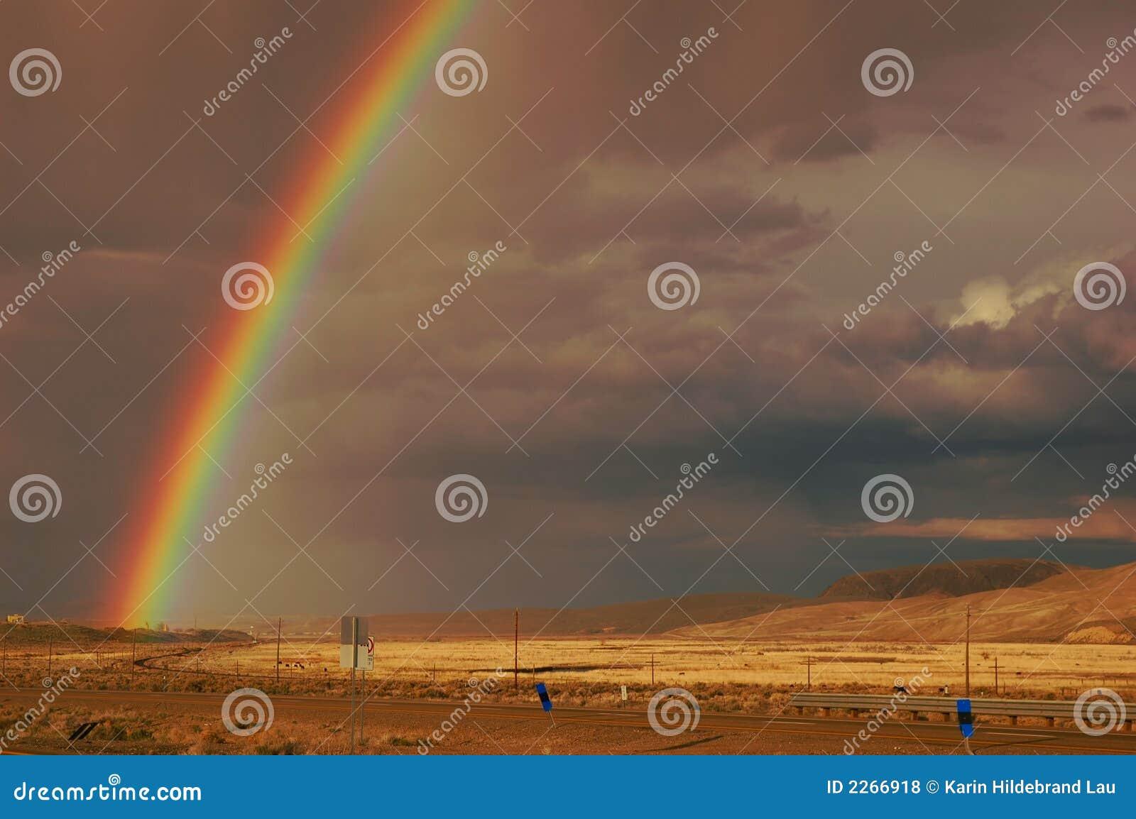 Arco-íris do deserto