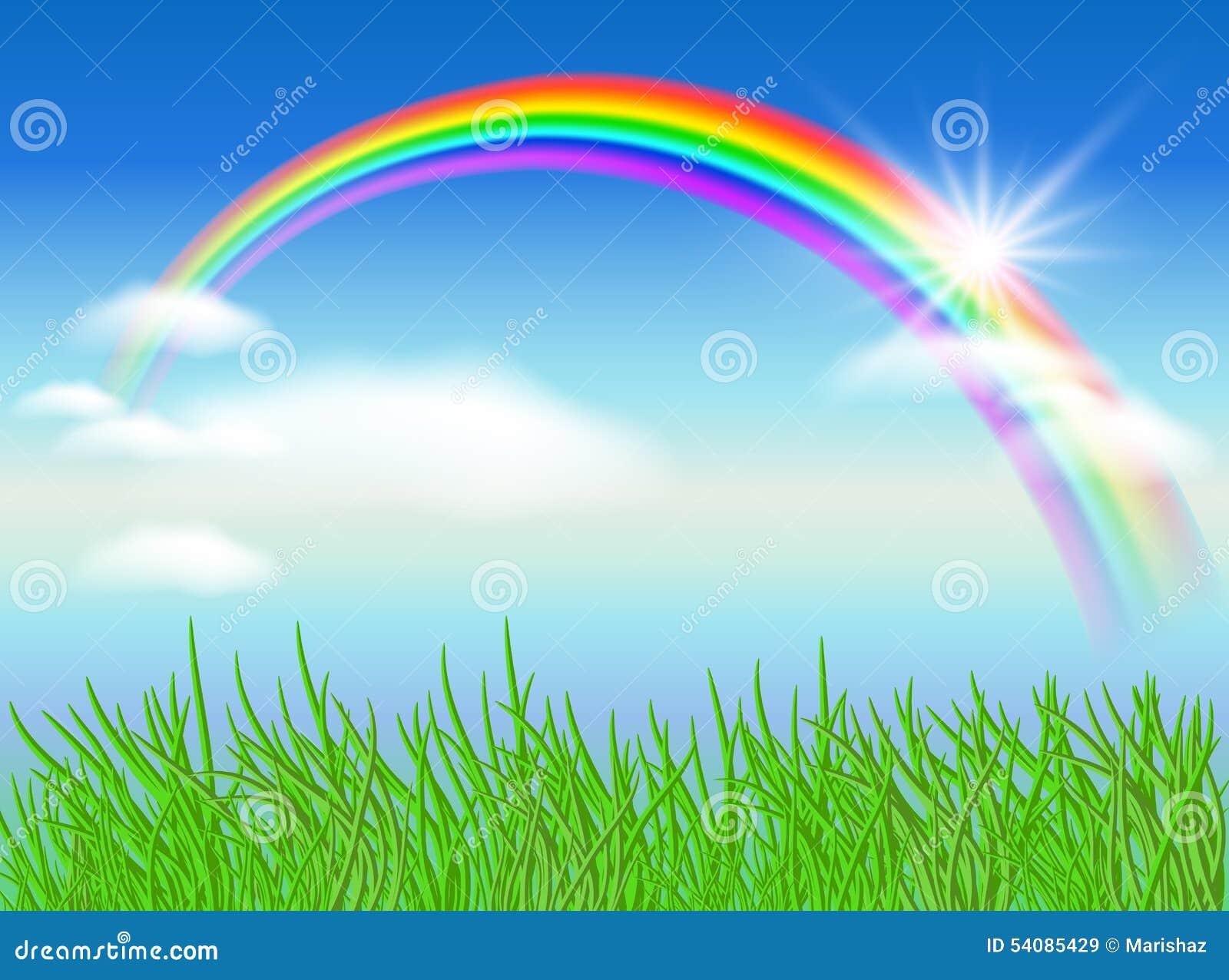 Arco-íris e sol