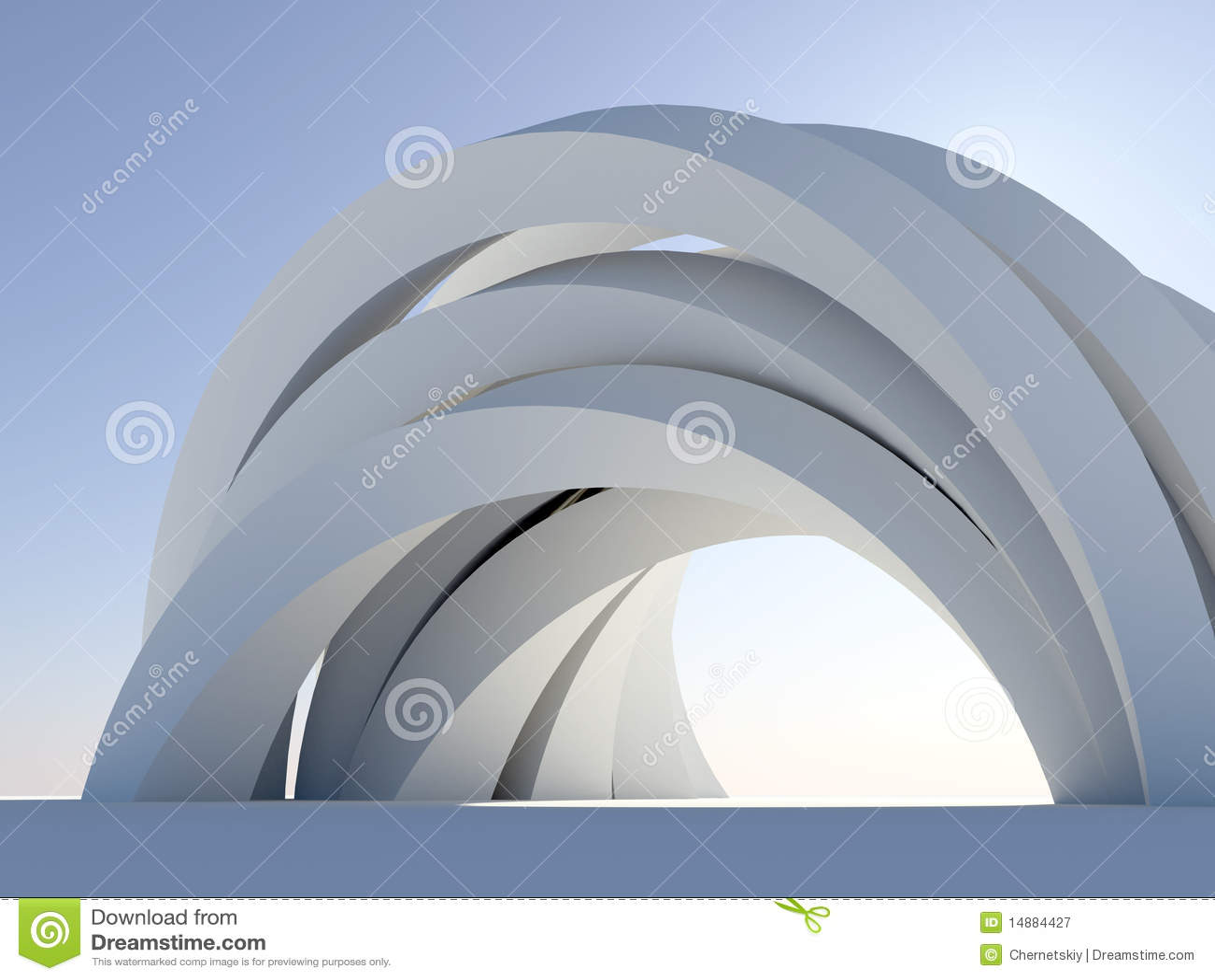 Arco abstracto en azul