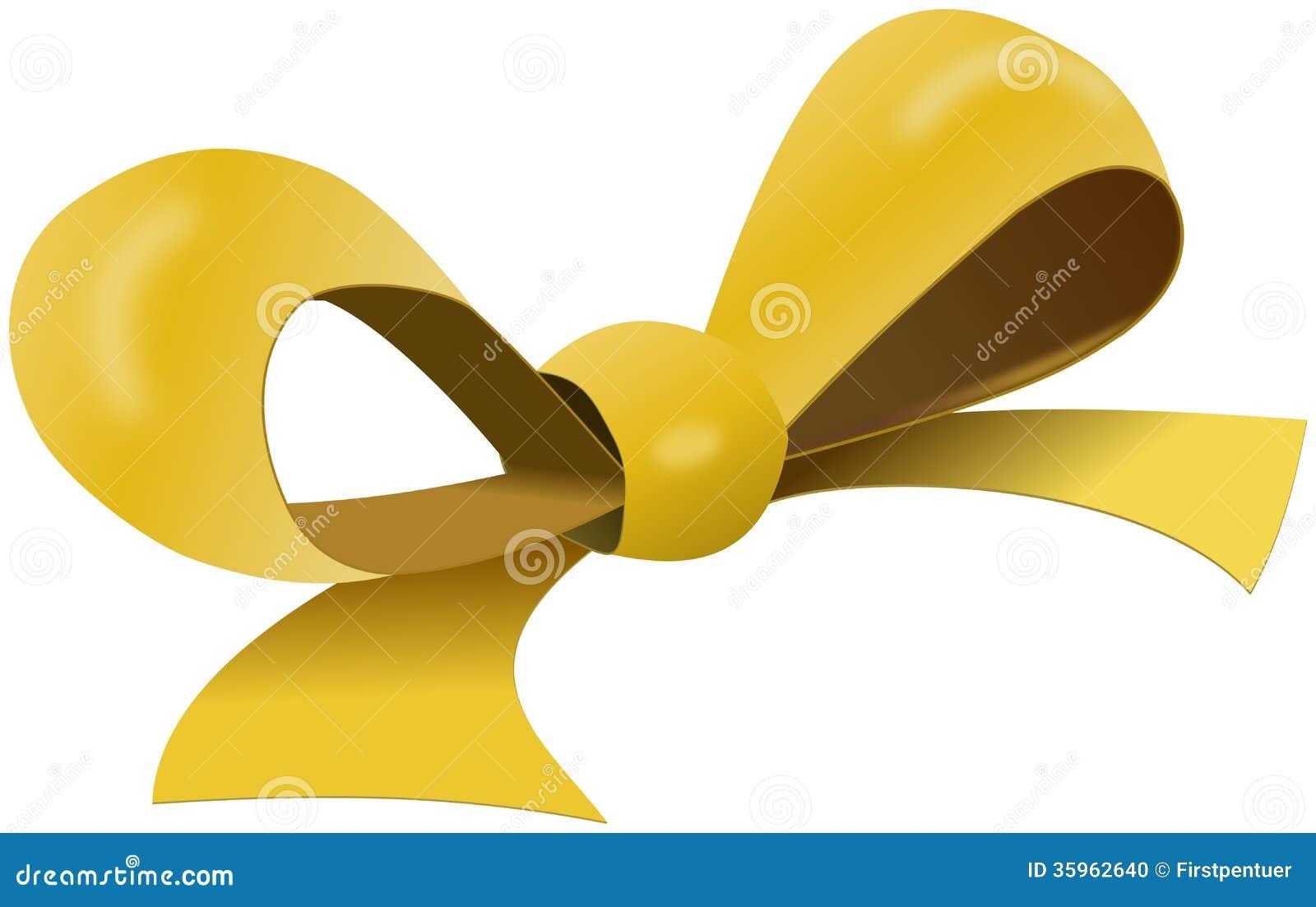 Arco amarillo para la caja de regalo
