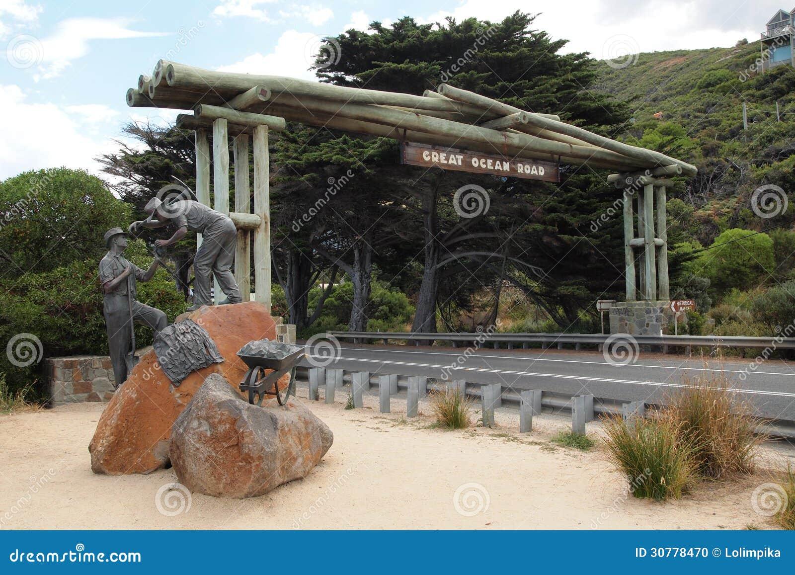 Arco conmemorativo del gran camino del océano, Victoria, Australia