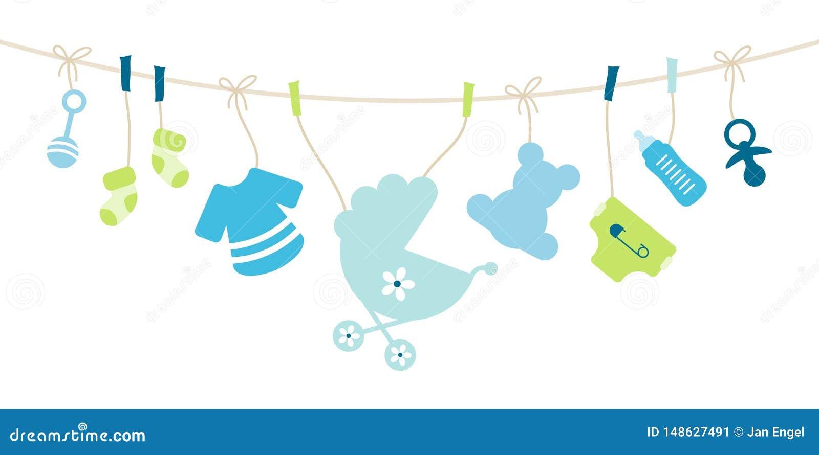 Arco d attaccatura del ragazzo delle icone del bambino blu e verde