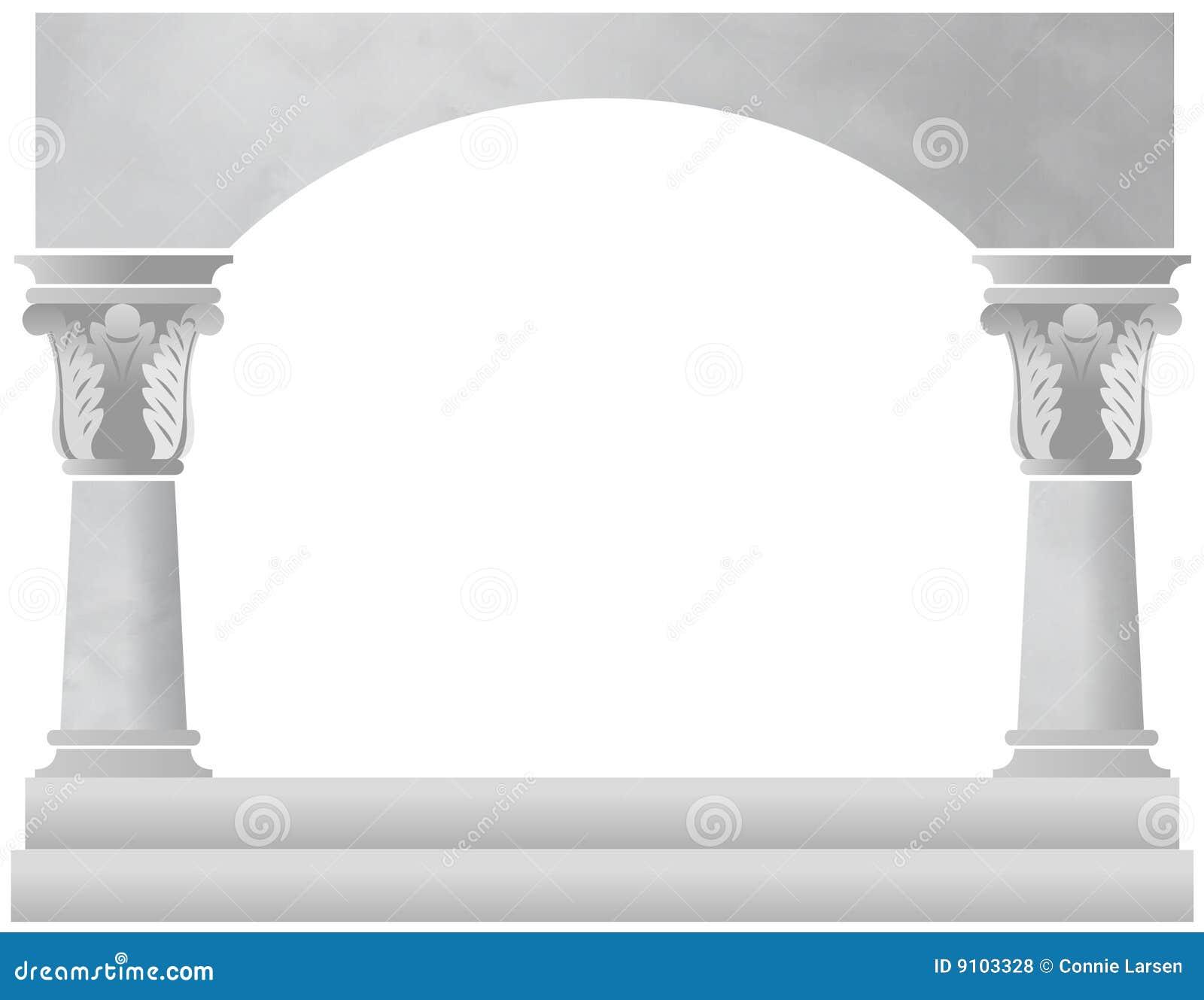 Arco da coluna de mármore