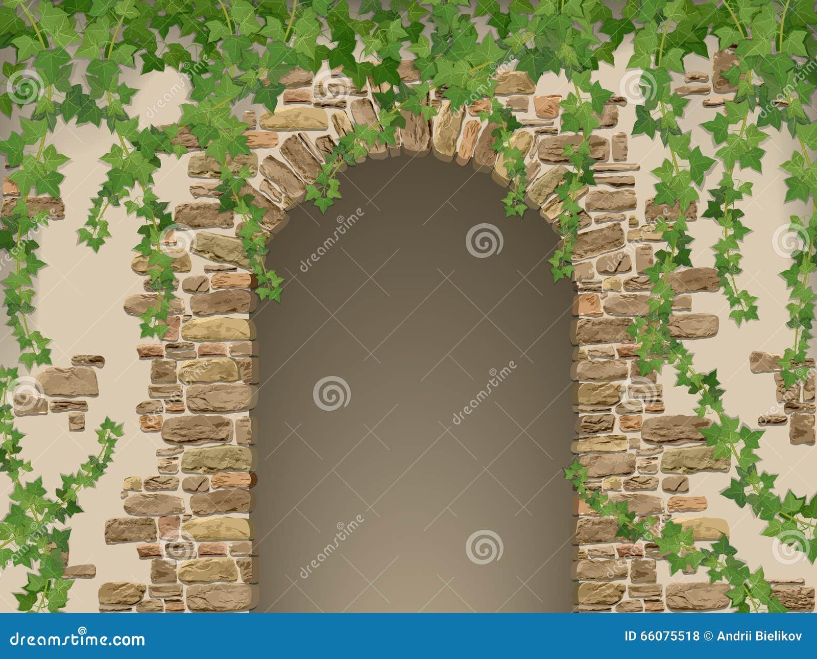 Arco de piedras y de la hiedra de la ejecución