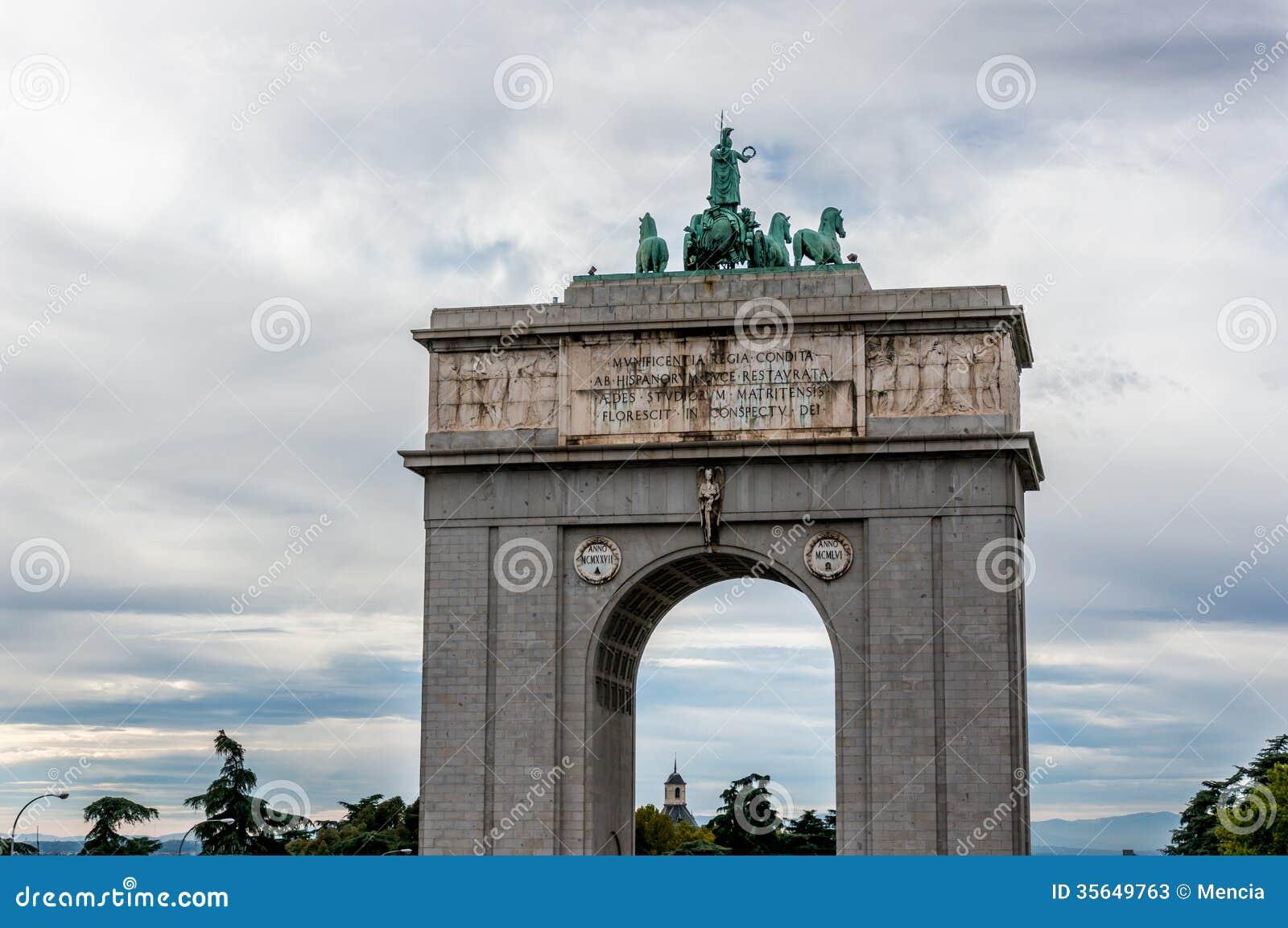 Arco Del Triunfo De Madrid Stock Image Image Of Historical 35649763