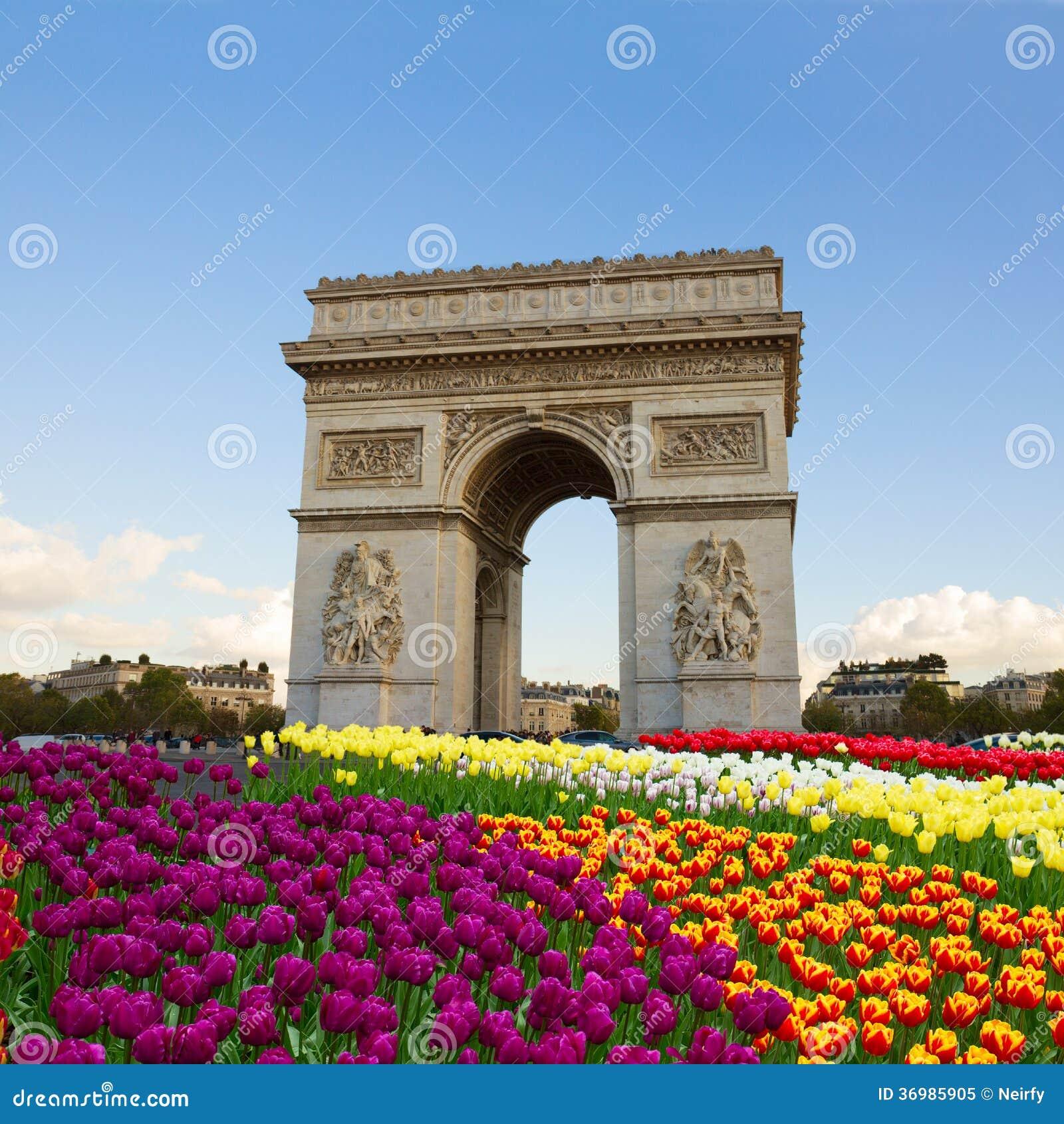 Arco Del Triunfo Paris Francia Imagen De Archivo Imagen De