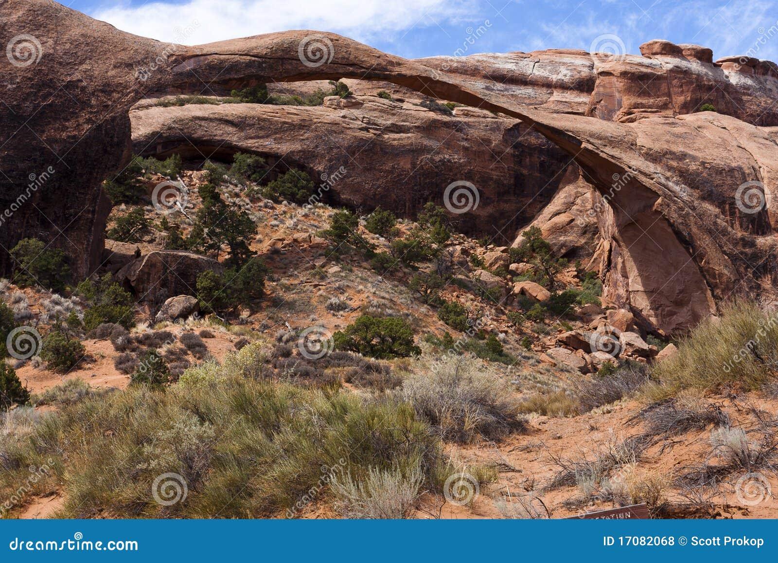 Arco delicado en el parque nacional de los arcos