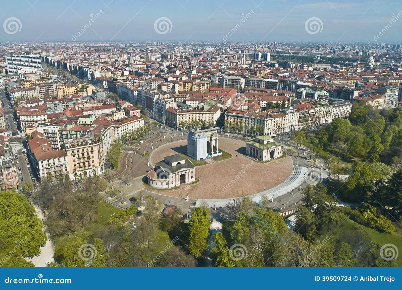 Arco della Pace at Milan, Italy