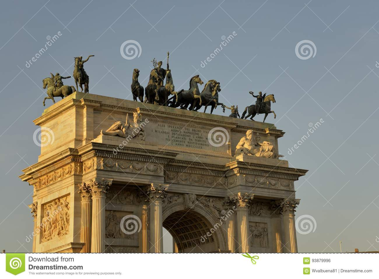 Arch of Peace in Milan Italy