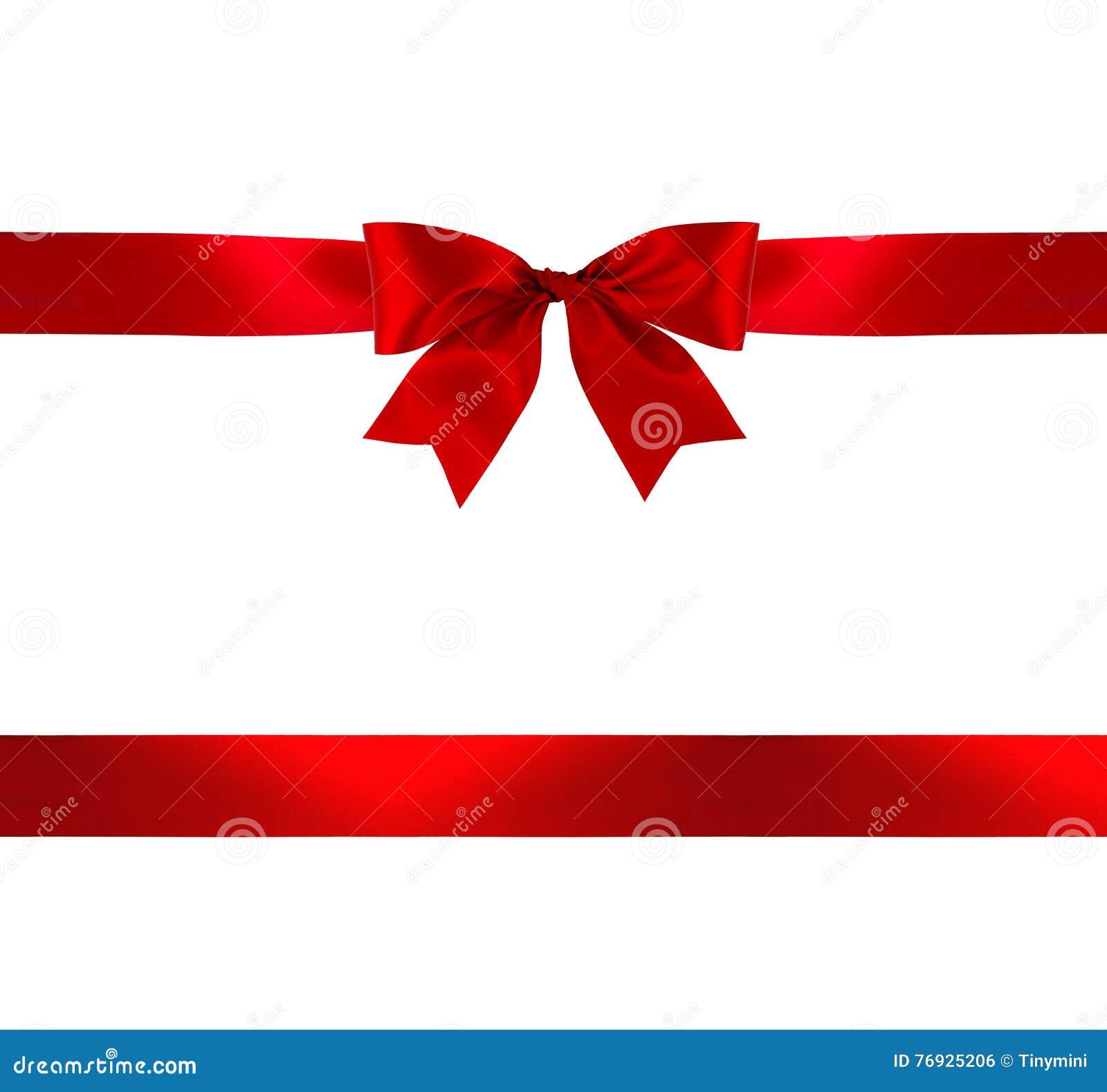 Arco e nastro rossi del regalo
