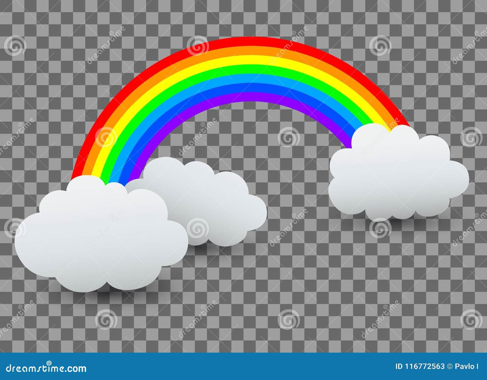 Arco iris con la nube -