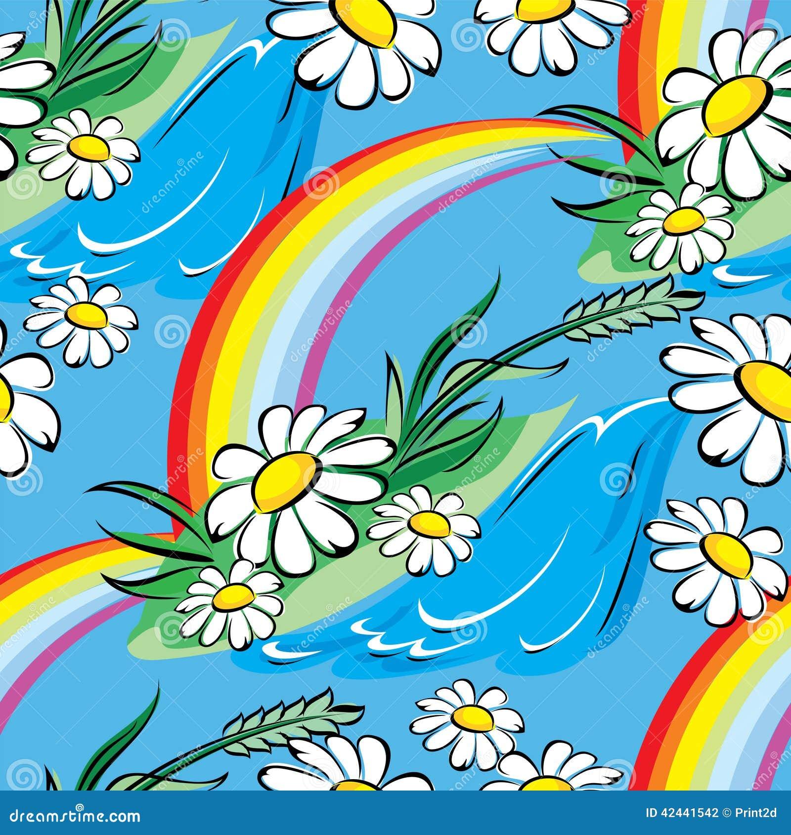 Arco iris de la primavera inconsútil